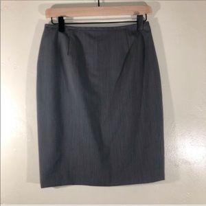 Lafayette 148 light gray suit skirt 6 petite